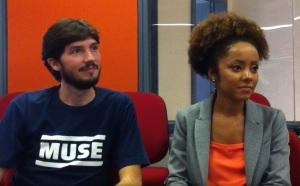 Os repórteres Felipe Bentivengna e Valéria Almeida do Profissão Repórter, da Rede Globo Foto: Cacá Junqueira