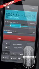 Aplicativos como o Pocket Recorder permitem gravações e edições de qualidade superior