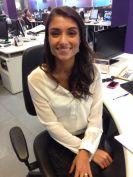 A repórter, Carolina Aguaidas, na redação Foto: Thiago Montero