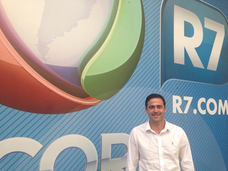 O novo gerente de negócios do R7, Marcio Zebini Foto: Luiza Lourenço