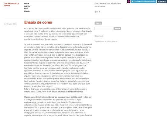 O jornalista Rodrigo Neri inovou ao usar o Tumblr como portfólio  Imagem: Reprodução da Internet