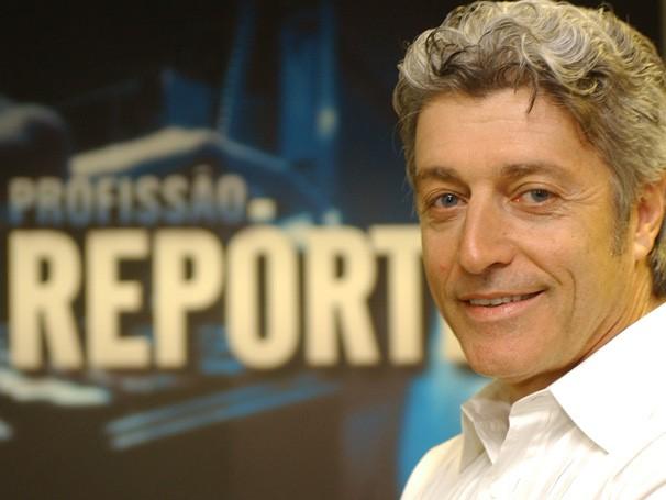 """Caco Barcellos comanda o """"Profissão Repórter"""" desde 2008. Foto: Memória Globo."""