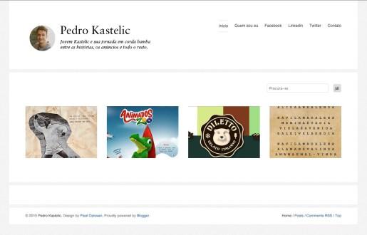 Pedro Kastelic criou um site dinâmico e com fácil navegação Imagem: Reprodução da Internet