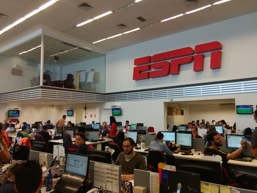 Redação da ESPN em São Paulo Foto: Daniel Ladeira