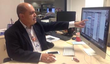 Fernando Santos, profissional que atua com Comunicação Interna Foto: Guilherme Sommadossi