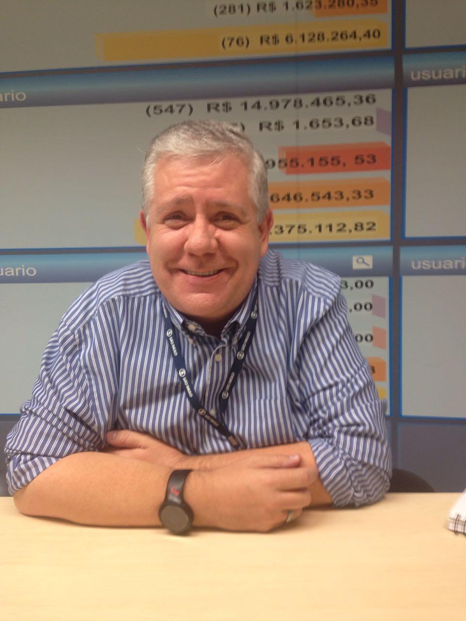 Ayres Plata na sede da Globo em São Paulo Foto: Gabriela Soares