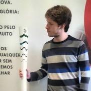 Thiago na sede da ESPN, em São Paulo. Foto: Arquivo Pessoal